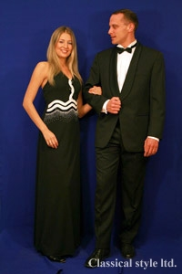 Evening dresses and suits